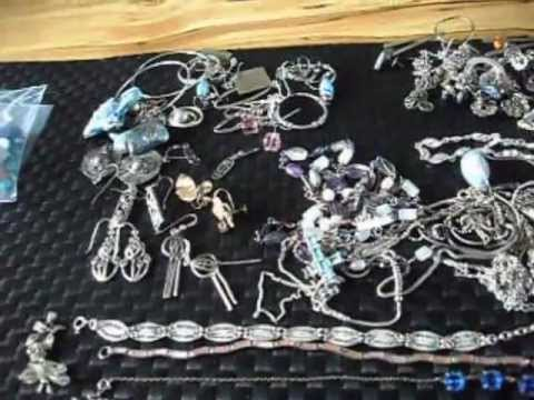 gold and silver hidden in costume jewellery lot