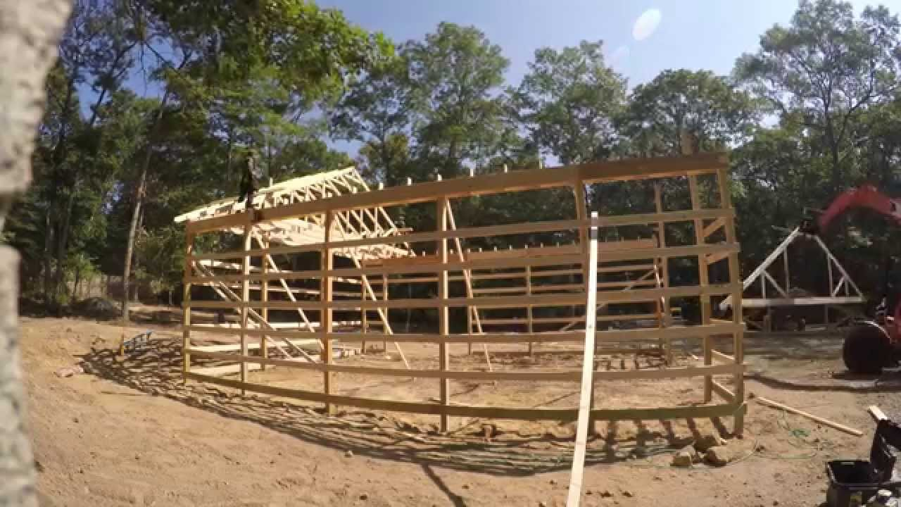 How to Build A Pole Barn | DIY Pole Barn Construction