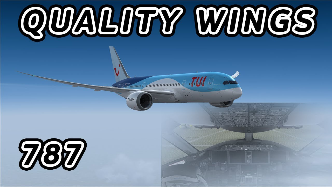 [FSX] Qualitywings 787 Landing at Gatwick [TUI]