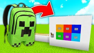 HOW TO MAKE A BACKPACK MACHINE IN Minecraft PE