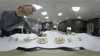 360° Video | Первый кулинарный мастер-класс в Солнечном готовим дисерт. Часть-2