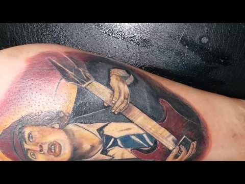Angus ACDC cover tattoo