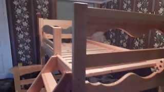 двухъярусная  кровать из дерева ( wooden bunk bed )(, 2015-11-22T15:17:51.000Z)