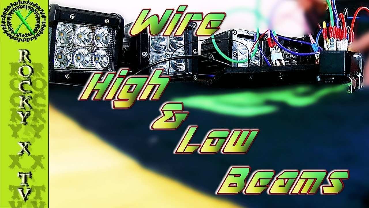 wiring diagram for led light bar without relay bmw e92 audio how to wire high and low beam lights youtube