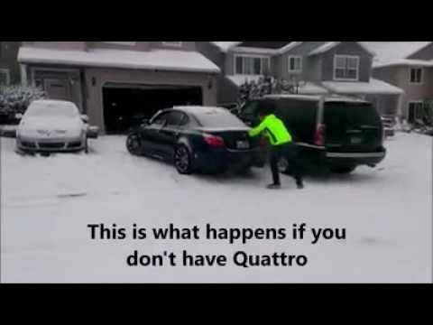 Audi Quattro Vs Bmw Xdrive Funny Moments 2017 Youtube