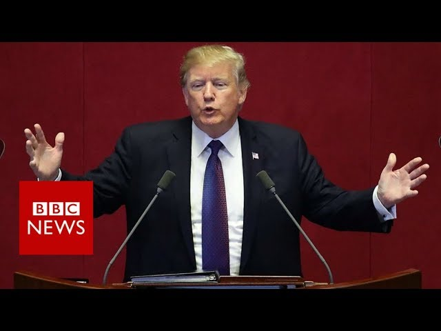 Trump to North Korea: 'Your weapons are not making you safer' - BBC News