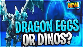 Dinosaur or Dragon eggs discovered under Fortnite's Ice Castle