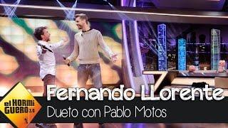 Fernando Llorente y Pablo Motos cantan