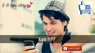 Cute nd sweet convo between BF & GF | romantic short story |