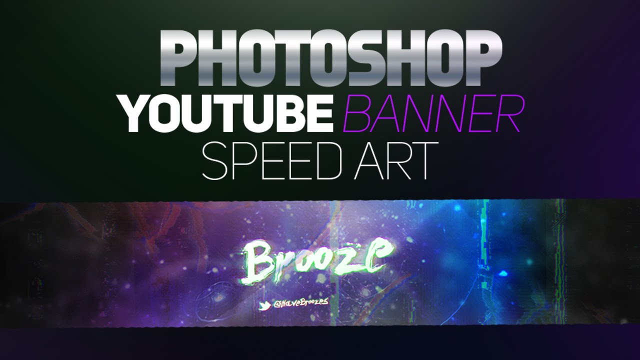 Photoshop Youtube Banner Speed Art Abstract Style