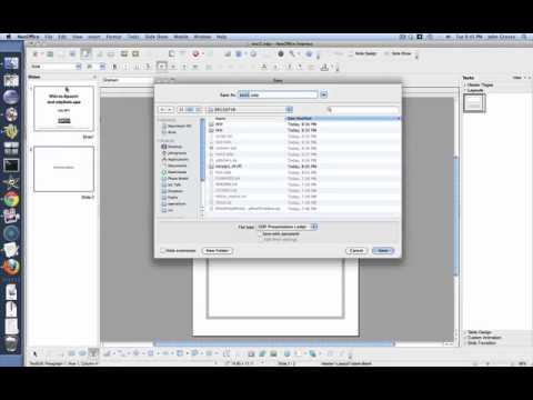 Wiki-to-Speech from an Open Office Presentation on Mac OSX