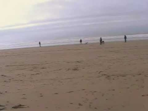 Walking from Sandymouth to Bude on the beach