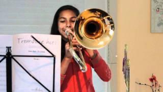 Eliane joue  With Gab au trombone