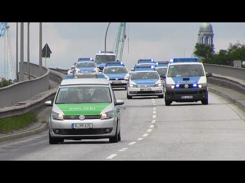 40 Streifenwagen Polizei Brandenburg / Sachsen / Bayern / Hamburg