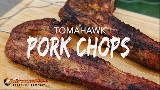 Tomahawk Pork Chops - Grilled Pork Chops Recipe with the Slow