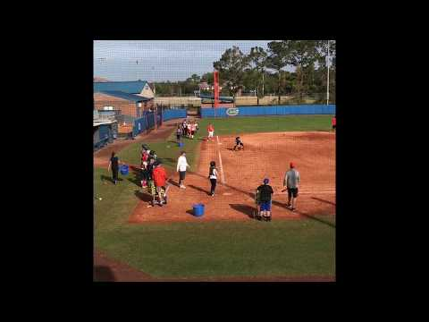KaiLi Gross 2020 grad fielding at the 2017 Florida Gators camp