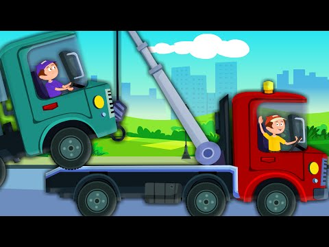 Tow Truck Song | Vehicles Song | Car Rhymes For Kids And Childrens