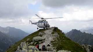 Helikopter w Tatrach, ćwiczenia TOPR na Kazalnicy