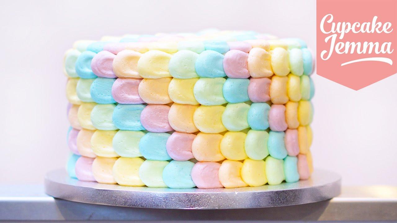 Cupcake Jemma Cake Recipe: Rainbow Petal Cake Masterclass