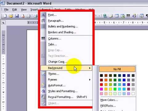 Using The Menu Bar Microsoft Word 2007 - YouTube
