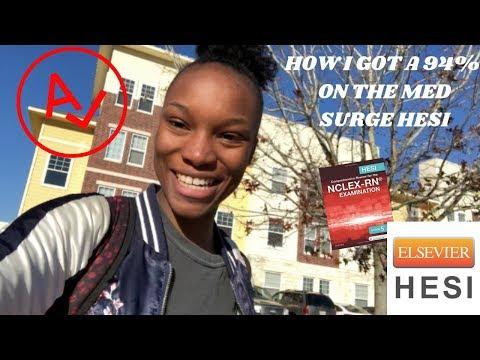 HOW I GOT A 94%/1062 ON THE MED SURG HESI! | PRENURSING VS