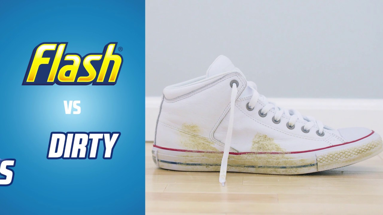 how to clean dirty shoes flash magic eraser youtube. Black Bedroom Furniture Sets. Home Design Ideas