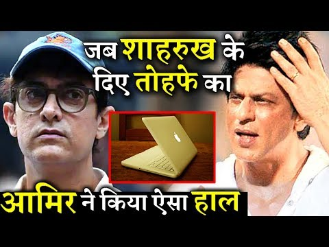 When Shahrukh Khan Gifted A Laptop to Aamir Khan, This Is What He Did With That Gift
