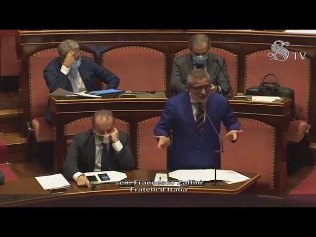 FdI Parlamento - L'intervento del Sen. Zaffini sull'informativa del Ministro Speranza