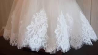 кремовое бальное платье
