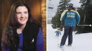 Blind 14-Year-Old Skier Doesn't Let Her Disability Slow Her Down