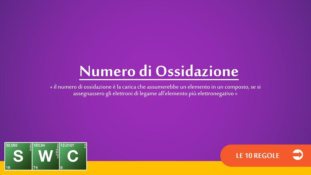 Le 10 regole per assegnare il numero di ossidazione youtube for Numero di politici in italia