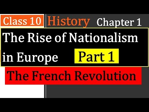 Download The Rise of Nationalism in Europe Class 10 Chapter 1 (The French Revolution) explanation in Hindi