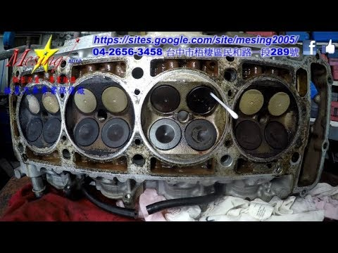 Removal on Exhaust Valves Causing Misfires in a Cylinder Head MERCEDES E220 W124 2.2L 1993~1995 M111