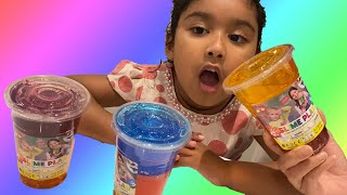 Ishfi and Aunty Unboxing Colorful Slime