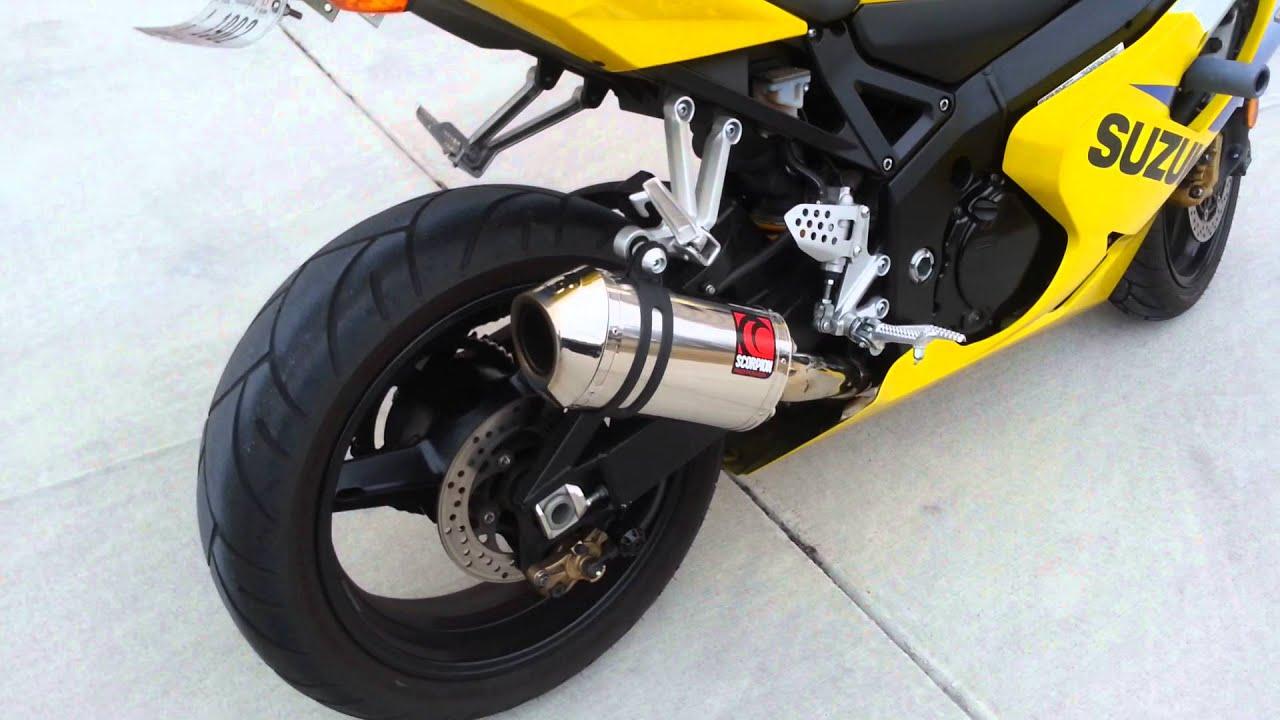 k5 gsxr 600 scorpion exhaust youtube
