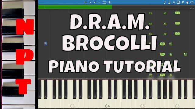 Dram Ft Lil Yachty Broccoli Piano Tutorial How To Play