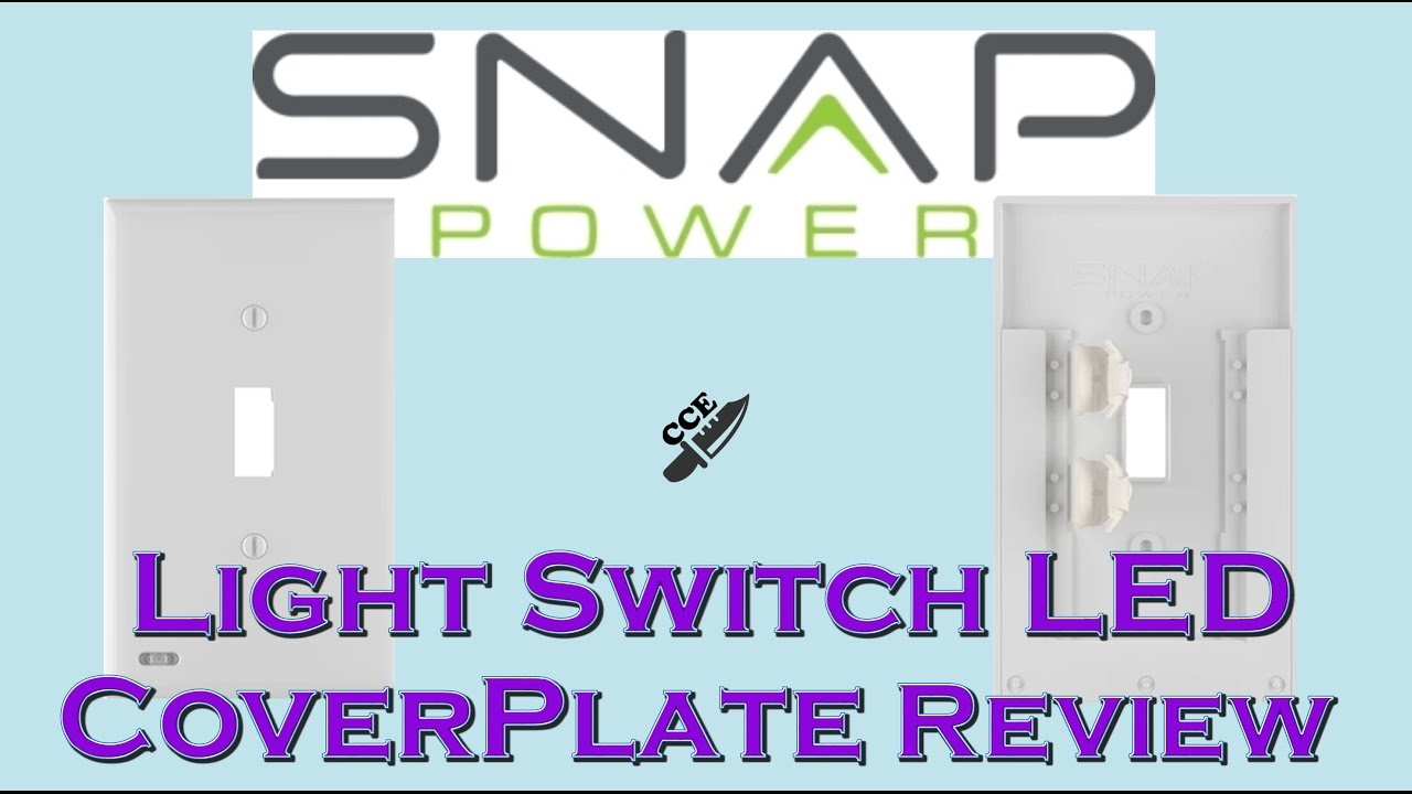 Snappower Light Switch Led Cover Plate Youtube