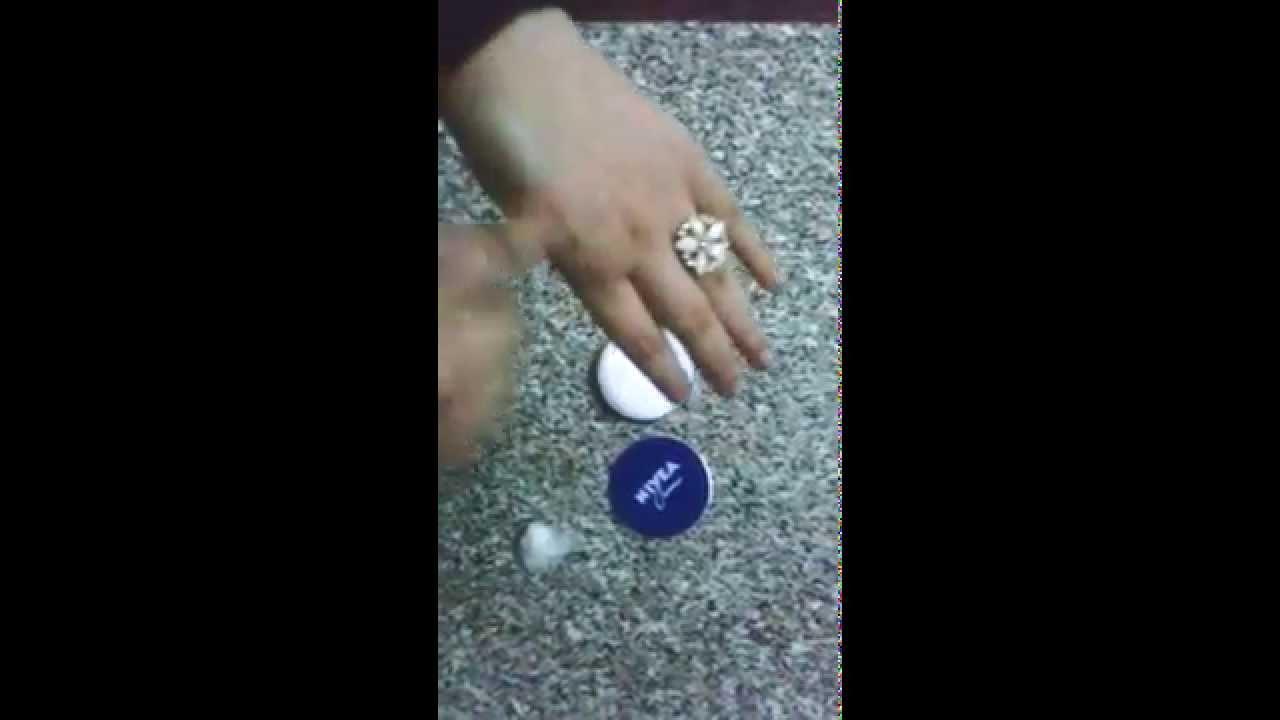 استخدام كريم نيفيا في تنظيف و تفتيح البشرة Youtube