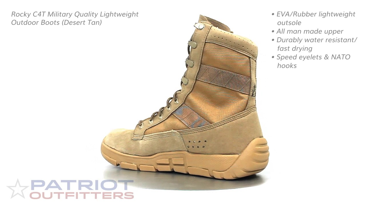 Rocky C4T Trainer Military Duty Boots (Desert Tan) - YouTube