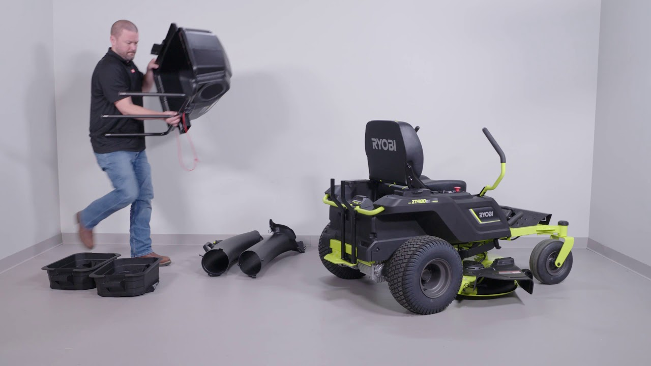 100 AH ZERO TURN ELECTRIC RIDING MOWER | RYOBI Tools