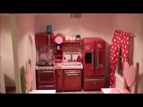 The Fascinating American Girl Doll House Tour 2013 (Raw)