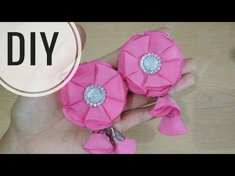 DIY || Cara membuat bros bunga dari kain kain perca || Easy Tutorial Fabric Flower