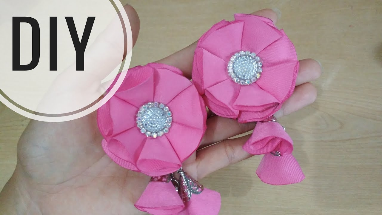 Diy Cara Membuat Bros Bunga Dari Kain Kain Perca Easy Tutorial Fabric Flower Cute766