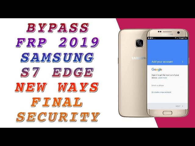 FRP 2019 ALL SAMSUNG S7 EDGE SM-G935F BYPASS FRP / ANDROID