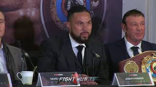 """Joseph Parker """"I know his weaknesses…I hope I catch Joshua on the chin and KO him!"""""""