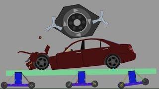 Phun Algodoo Car Destruction #7
