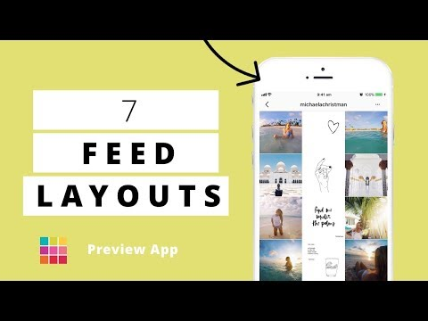 Instagram Feed LAYOUTS you can create in Preview App
