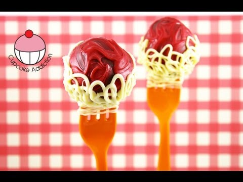 Make Spaghetti & Meatballs Cake Pops! A Cupcake Addiction How to Tutorial