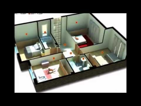 12 examples of Minimalist 3 bedroom House floor plan 3D
