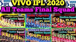 IPL 2020 All Teams Final Squad | Vivo IPL 2020 All (Eight) Teams Confirmed Squad | Sports Canvas
